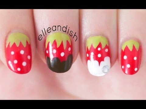 Easy Chocolate Strawberry Nails