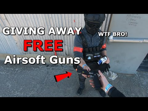 Giving Away Airsoft Guns to Random People for FREE! *CRAZY Funny Reactions & Airsoft War/Gameplay*