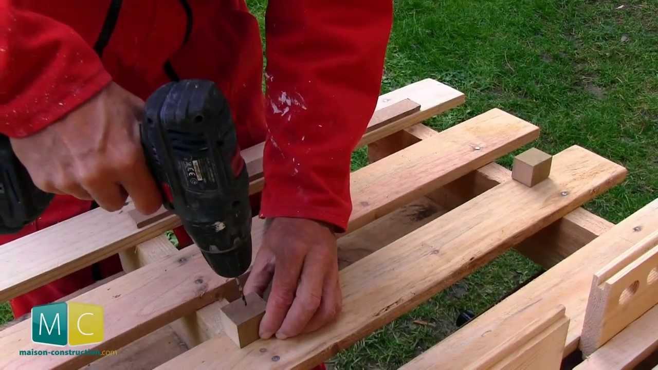 Rangement atelier partir d 39 une palette youtube - Fabriquer un porte outils de jardin ...