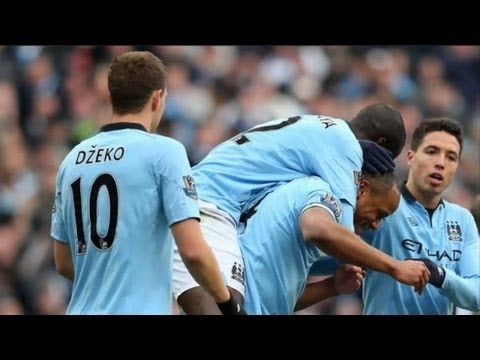 Yaya Touré AMAZING FREE KICK! Manchester City vs Newcastle 4-0 19-8-13 2013 [HD 720p]