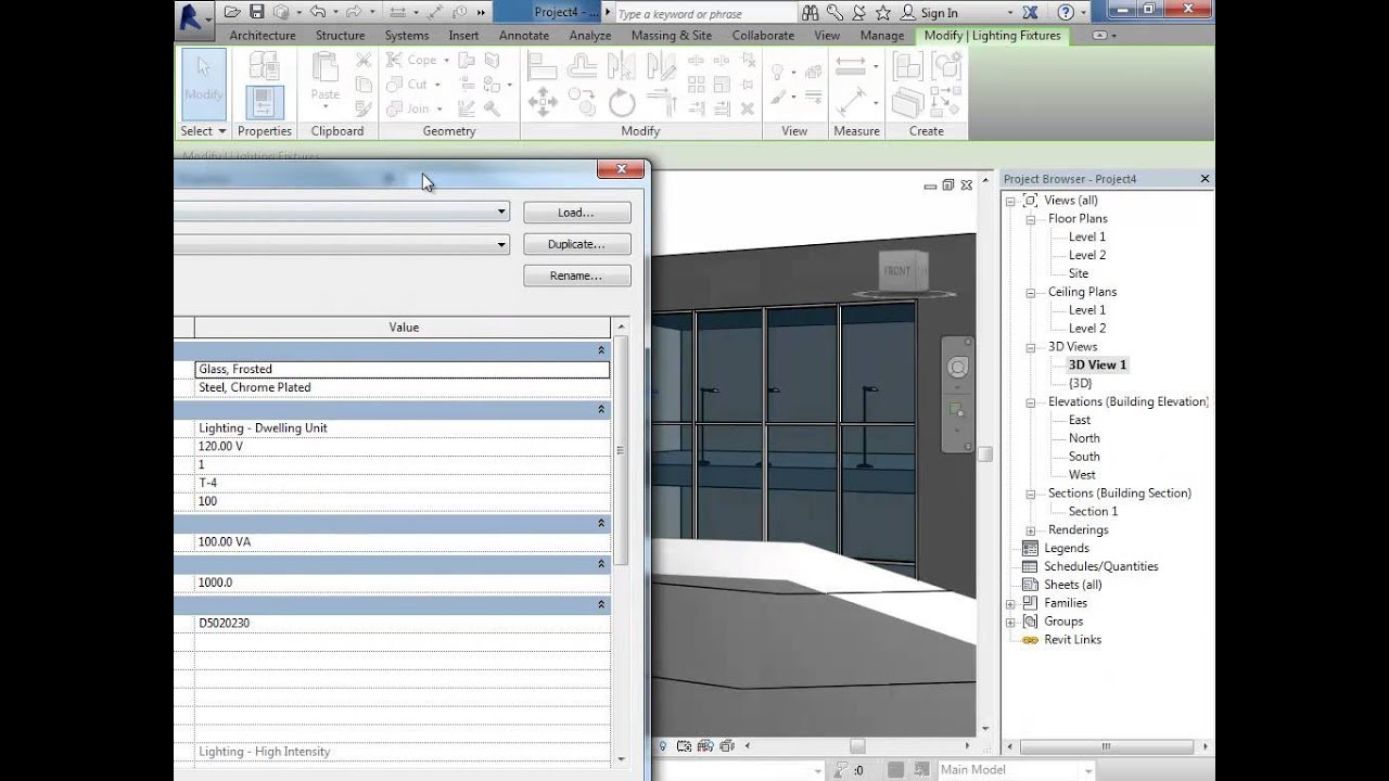 Revit 2014 Rendering With Interior Lights Youtube