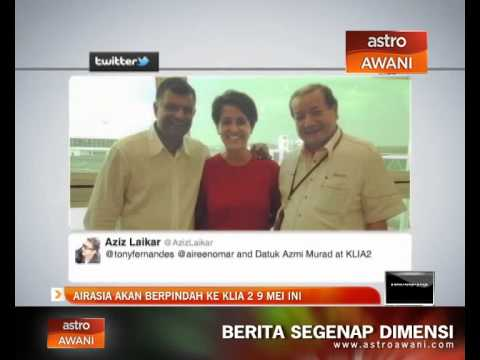 AirAsia sah akan berpindah ke KLIA2