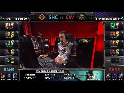SUPA HOT CREW vs Copenhagen Wolves | S4 EU LCS Summer 2014 Week 5 Day 1 in London | SHC vs CW W5D1