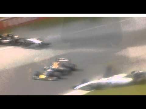 Asi se estrella Felipe Massa sobre el Checo Perez en el GP de Canada