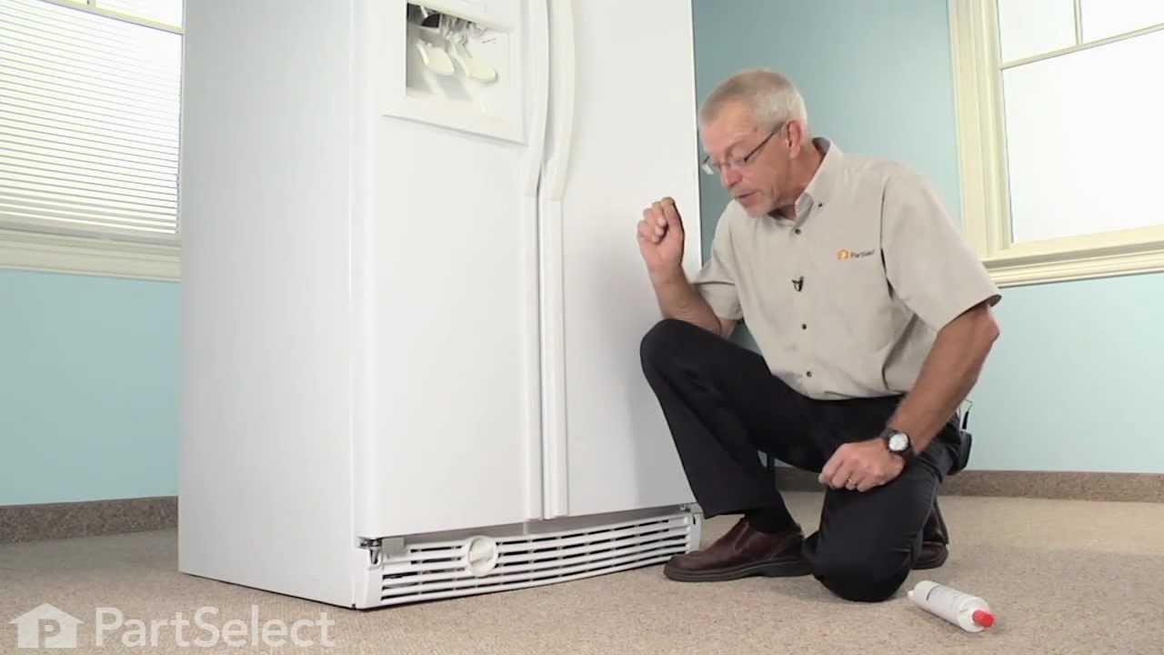 Refrigerator Maintenance - Replacing Ice & Water Filter (Whirlpool Part# 4396508) - YouTube