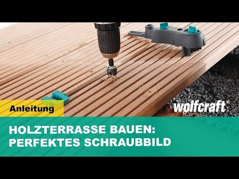 holz terrassenbau schnellanleitung f r sichtbare verschraubung von oben youtube. Black Bedroom Furniture Sets. Home Design Ideas