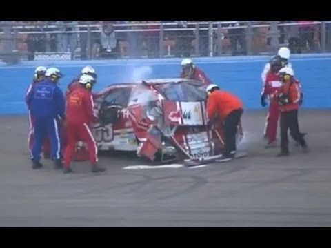 David Reutimann Big Crash @ 2013 AdvoCare 500