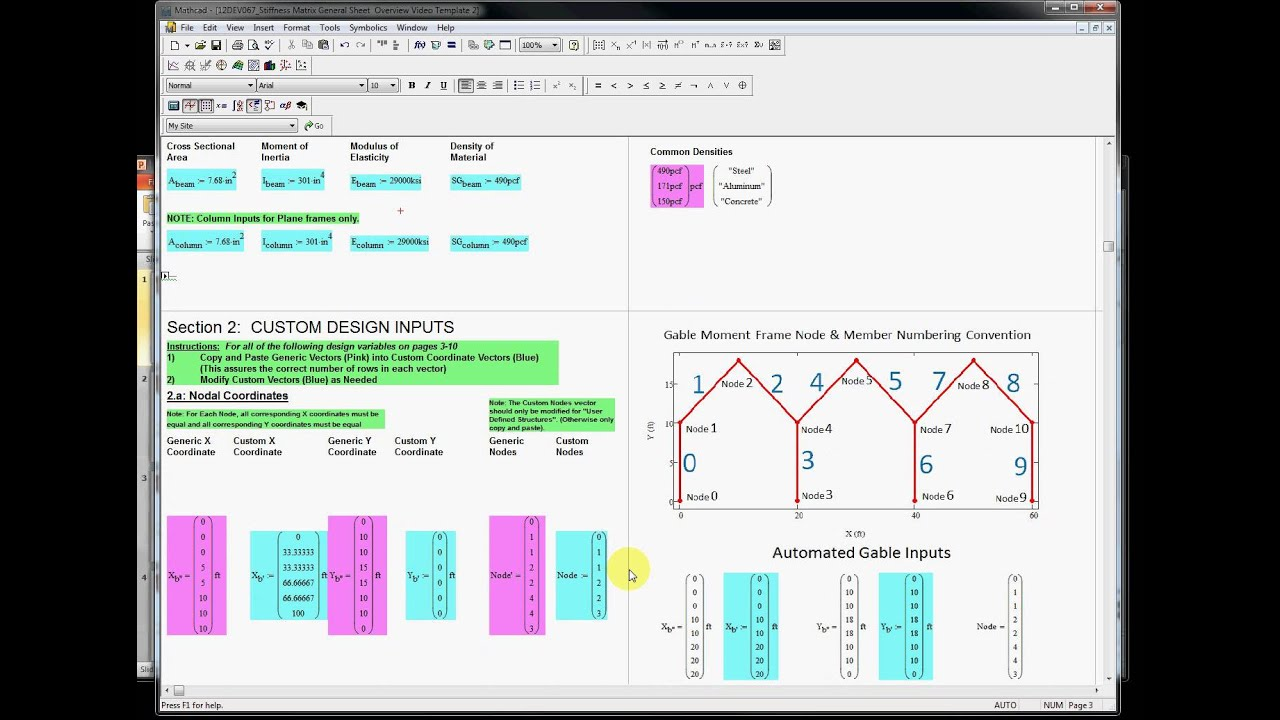 "Structural Analysis MCAD Matrix Method ""How To"""
