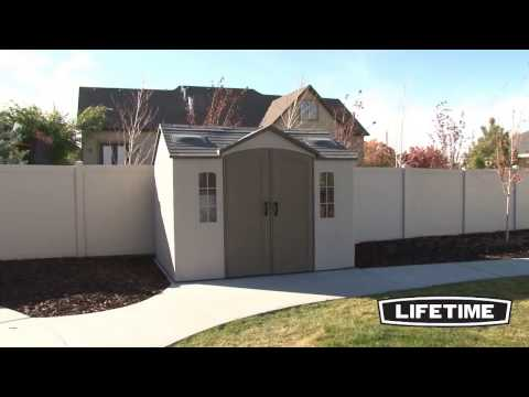 Lifetime Plastic Apex Roof Shed 10X8