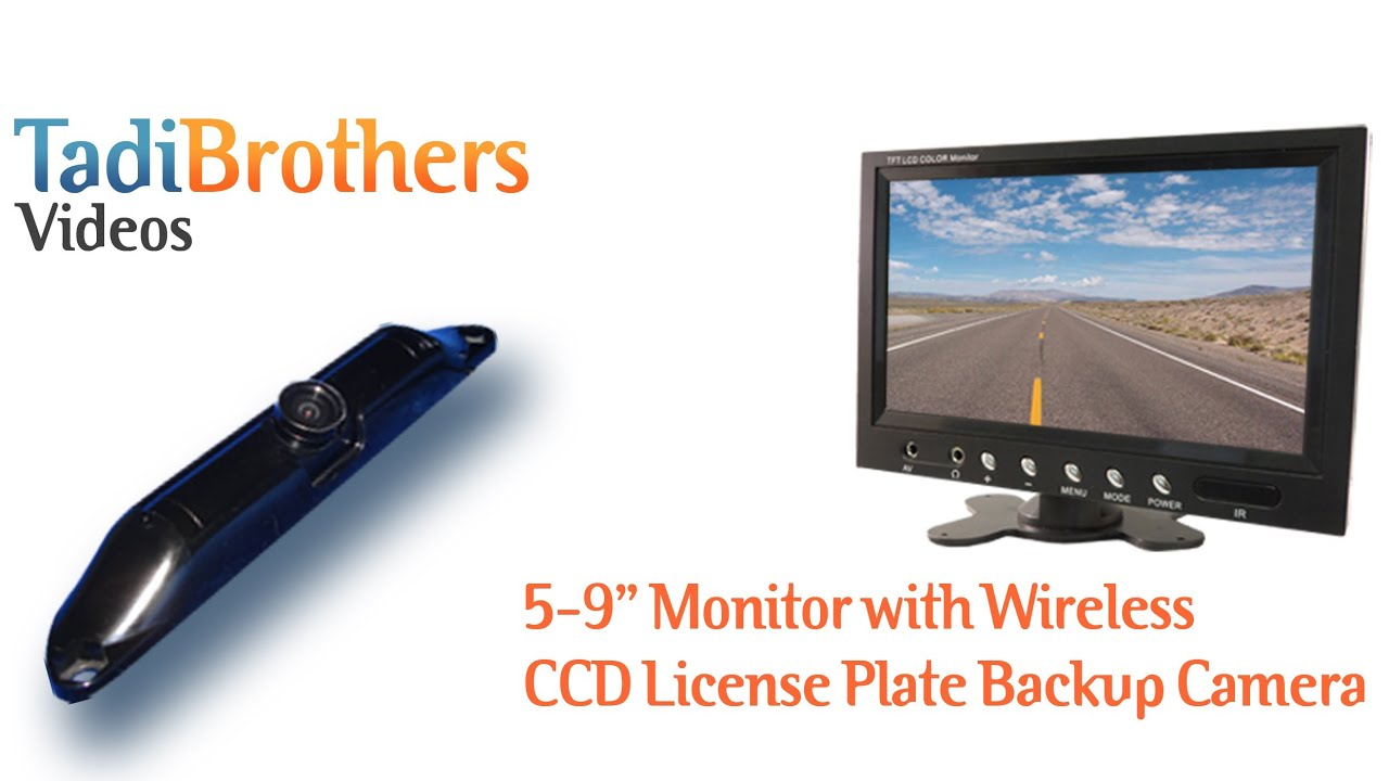 Wireless Ccd License Plate Backup Camera Systems From Www