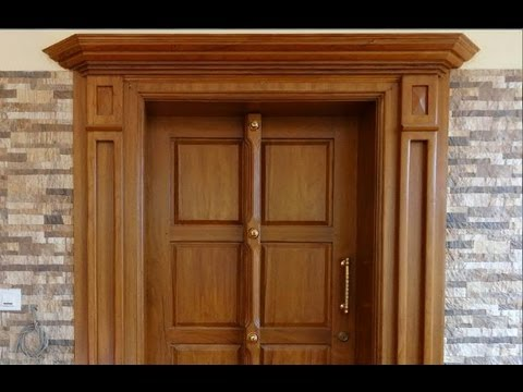 Wooden doors wooden doors kerala style for Big main door designs