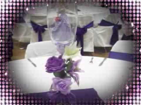 Decoracion para quincea era en morado youtube for Decoracion de quinceanera
