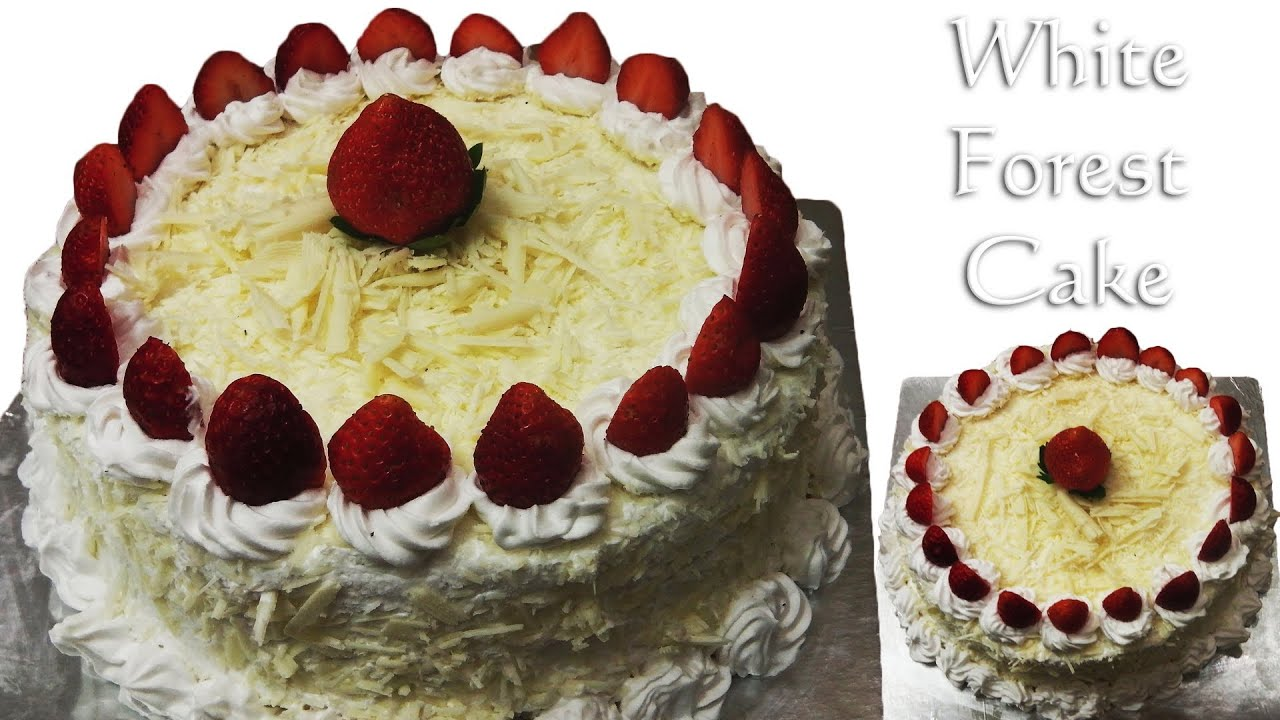 White Forest Cake Cooker Cake Eggless Without Condensed