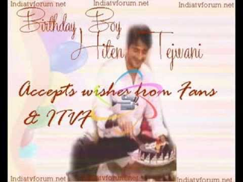 Birthday boy Hiten accepts wishes from fans-part 1