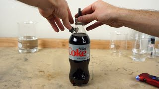 MENTOS in a CLOSED SODA BOTTLE—What Happens?