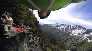 Intense Wingsuit Fly-By Comes Close To Mountain