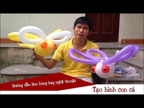 Bóng bay nghệ thuật tạo hình con chuồn chuồn | Balloons Twisting
