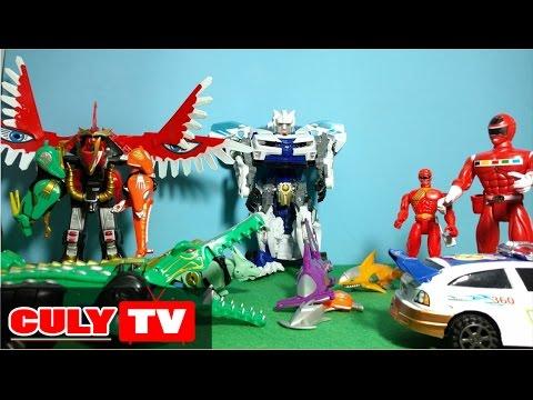 Siêu nhân gao đỏ siêu thú robot biến hình đại chiến rôbốt xe cảnh sát - kid toy story gao rangers