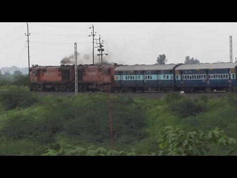 Twin Alco Power Karnataka Express : Daund Manmad Electrification..