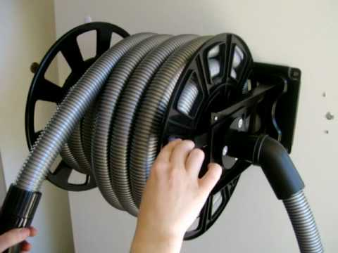 Ducted Vacuum Hose Retracting Hose Reel Youtube