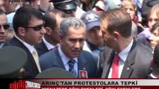 Şehit Cenazesinde Bülent ARINÇA protesto