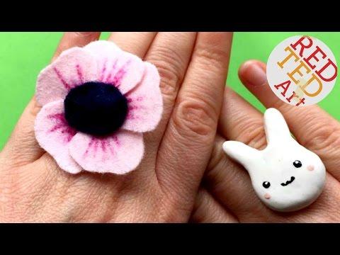 Easy Felt Flower Ring DIY - Easy Jewellery DIYs - Sew a Flower RING DIY