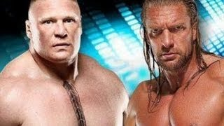 WWE Wrestlemania 29 Triple H Vs Brock Lesnar Highlights