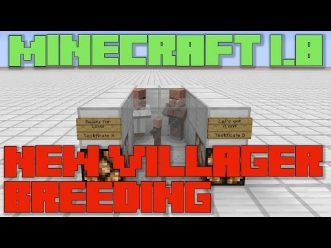Minecraft 1.8 : New Villager Breeding - Trade To Breed