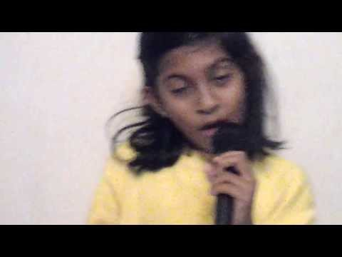 a nine year old sri lankan girl singing count on me song