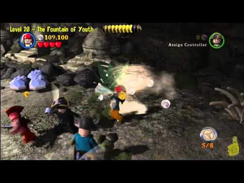 Lego Pirates of the Caribbean: Level 20 The Fountain of Youth - Story Walkthrough - HTG