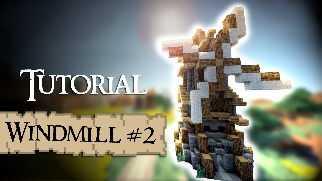 Minecraft Tutorial: medieval windmill (Version 2) - YouTube