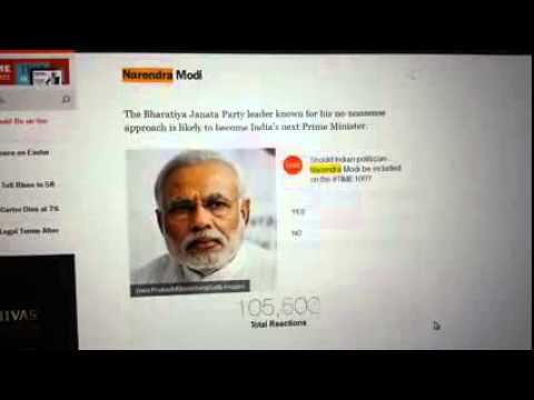 Fake voting by Narendra Modi supporters on Time.com