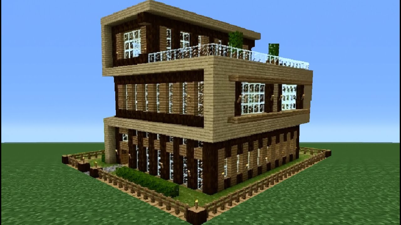 Minecraft 360 modern house tutorial house number 4 for Modern house xbox minecraft