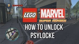 How To Unlock Psylocke LEGO Marvel Super Heroes