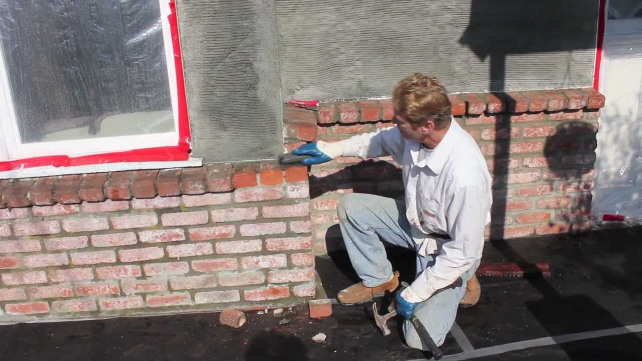 How To Stucco Over Brick Walls Youtube