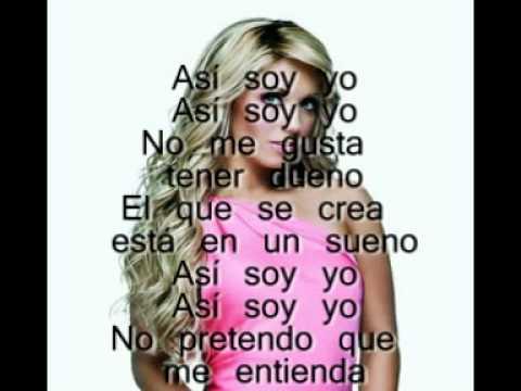 RBD-Así Soy Yo (lyrics/letra)
