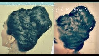 ★CUTE HAIRSTYLE How To NEVER-ENDING FRENCH BRAID SOCK
