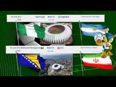 World Cup 2014 Brazil - Group F Matches : FIFA Championship