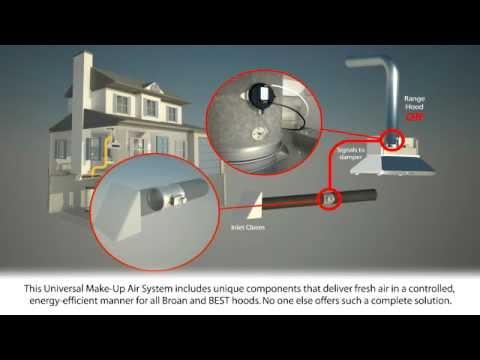 Broan Universal Make Up Air Damper Youtube