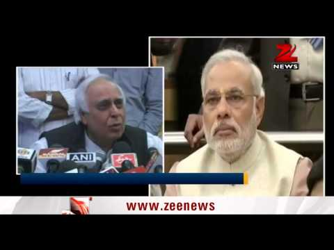 Kapil Sibal recites poem for Modi