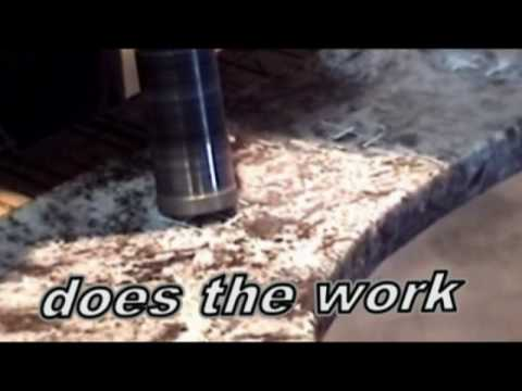 How To Drill Faucet Holes Granite Countertops Youtube