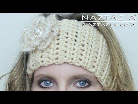 Crochet Hair Band Youtube : Learn How to Crochet Easy Headband Wrap with Flower (Hair Head Band ...
