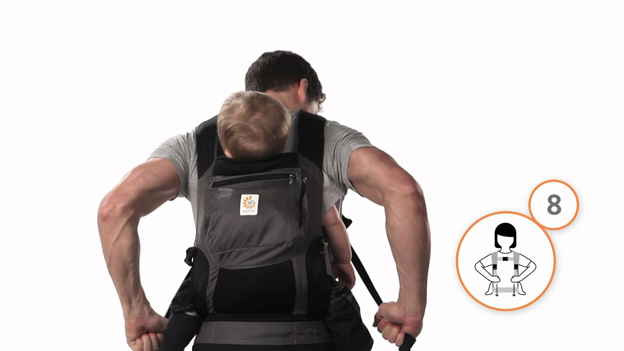 How To Back Carry In The Ergobaby Carrier Youtube