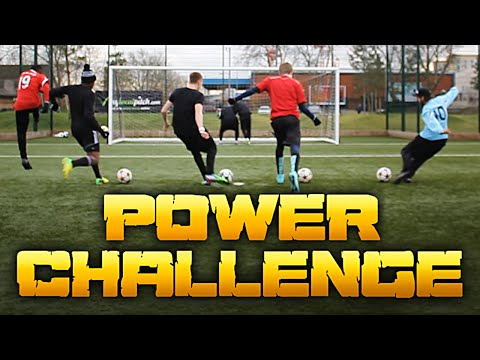 FOOTBALL POWER CHALLENGE - How Hard Can You Kick A Football?