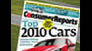 2010 Top PIck Cars from Consumer Reports