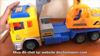 Mở hộp đồ chơi xe cứu hỏa đỏ và xe công trình siêu đẹp hàng chuẩn (Chim Xinh)