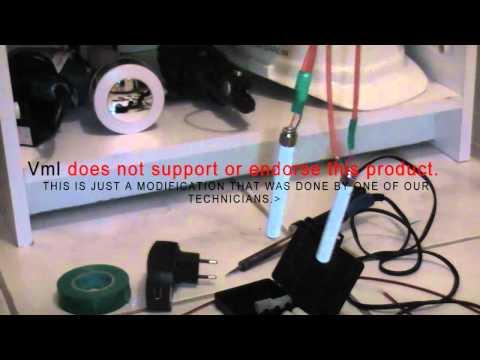 Krave E-CIG charger modification by vml technician