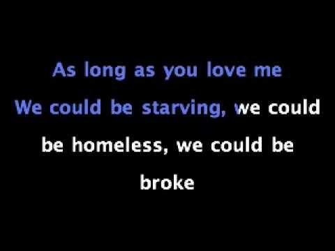 justin bieber as long as you love me lyrics pdf