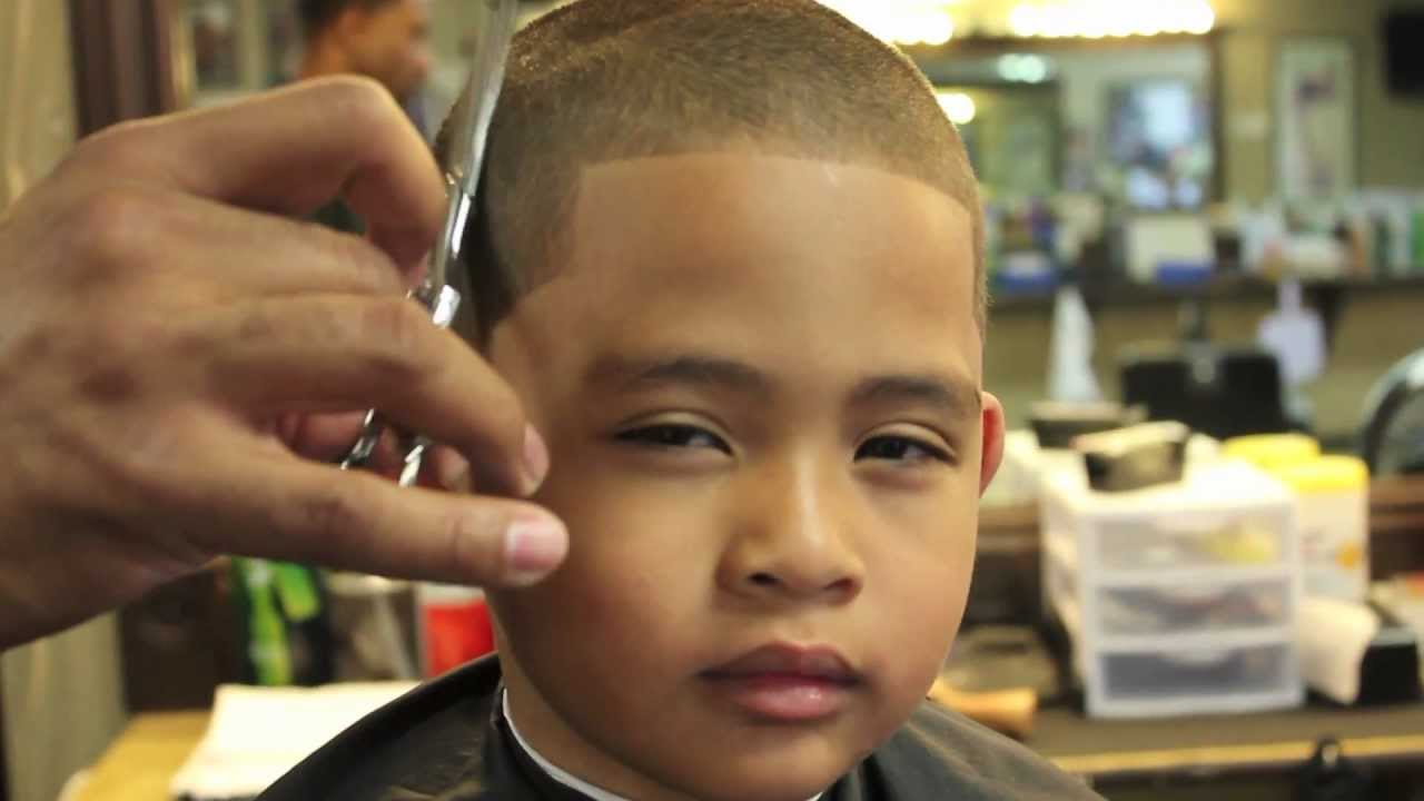 Caesar Haircut Black Little Boys All Even