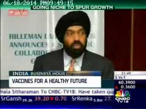Hilleman Laboratories on India BusinessHour CNBCTV18